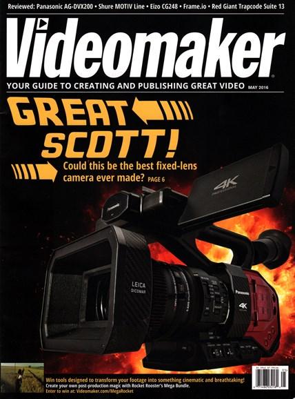 Videomaker Cover - 5/1/2016