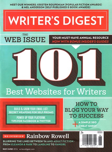 Writer's Digest Cover - 5/1/2016