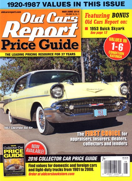 Old Cars Report Price Guide Cover - 5/1/2016