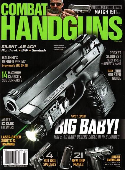 Combat Handguns Cover - 6/1/2016