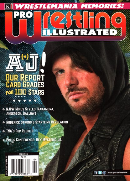 Pro Wrestling Illustrated Cover - 6/1/2016