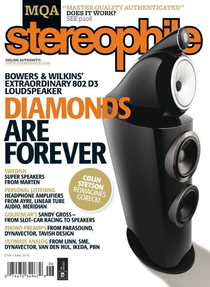Stereophile Cover - 6/1/2016