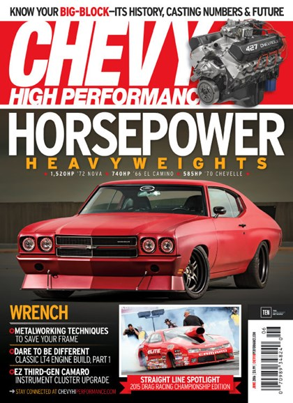 Chevy High Performance Cover - 6/1/2016
