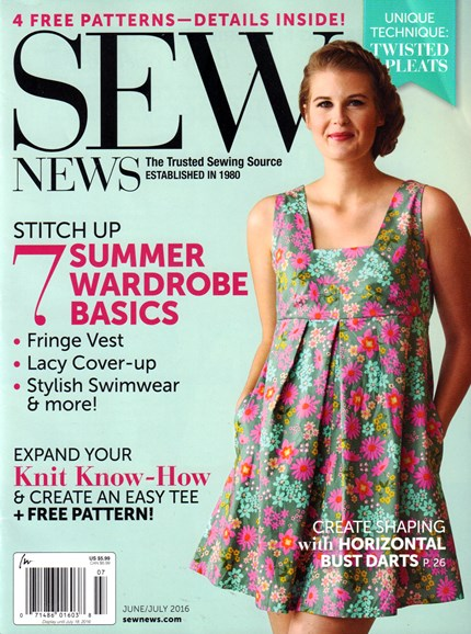Sew News Cover - 6/1/2016