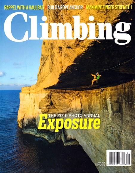 Climbing Magazine Cover - 6/1/2016