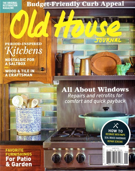 Old House Journal Cover - 6/1/2016