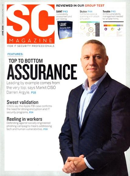 SC Magazine - U.S. edition Cover - 6/1/2016