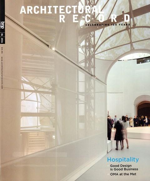Architectural Record Cover - 6/1/2016