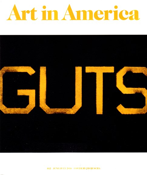 Art In America Cover - 6/1/2016