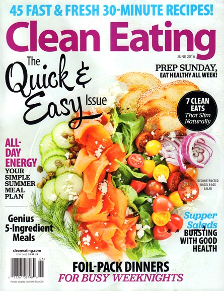 Clean Eating Cover - 6/1/2016