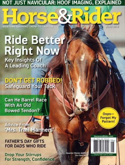 Horse & Rider Cover - 6/1/2016