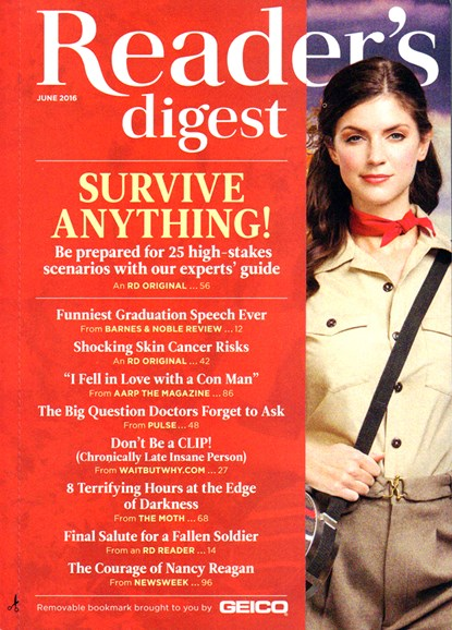 Reader's Digest Cover - 6/1/2016