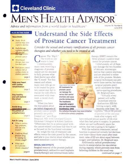 Men's Health Advisor Cover - 6/1/2016