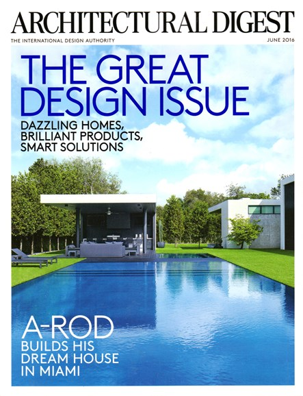 Architectural Digest Cover - 6/1/2016