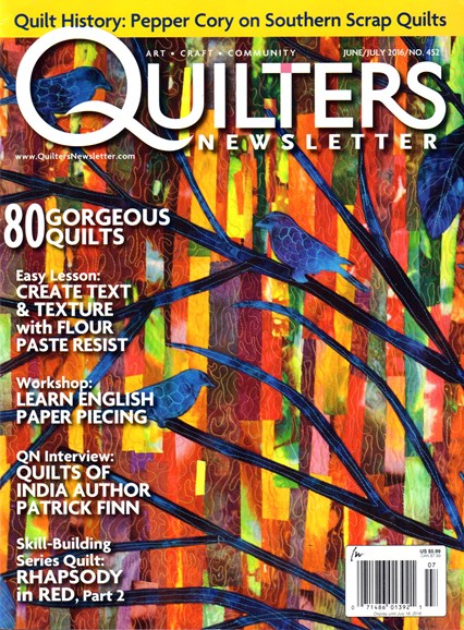 Quilter's Newsletter Cover - 6/1/2016