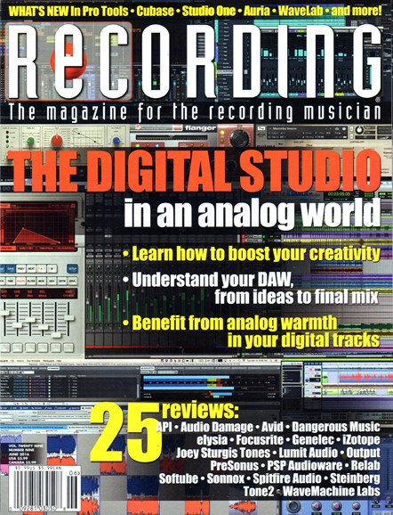 Recording Magazine Cover - 6/1/2016