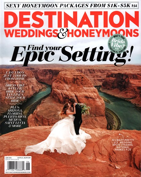 Destination Weddings & Honeymoons Cover - 6/1/2016