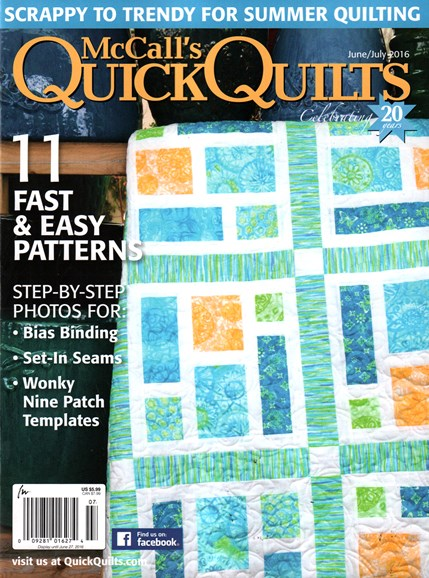 McCall's Quick Quilts Cover - 6/1/2016
