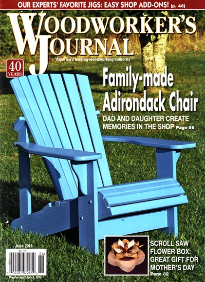 Woodworker's Journal Cover - 6/1/2016