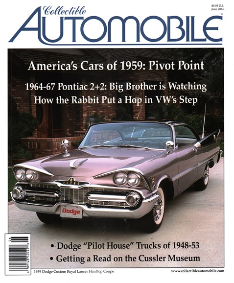 Collectible Automobile Cover - 6/1/2016