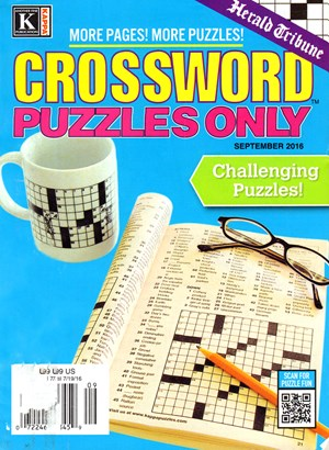 Herald Tribune Crossword Puzzles Magazine | 9/2016 Cover