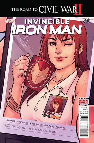 Tony Stark: Iron Man Cover - 8/1/2016