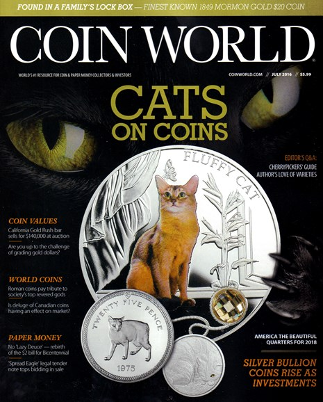 Coin World Monthly Cover - 7/1/2016