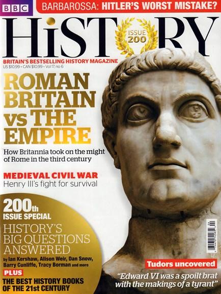 BBC History Cover - 6/1/2016