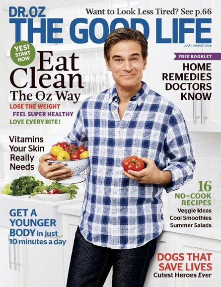 Dr. Oz The Good Life Cover - 7/1/2016