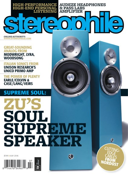 Stereophile Cover - 7/1/2016