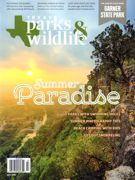Texas Parks & Wildlife Cover - 7/1/2016