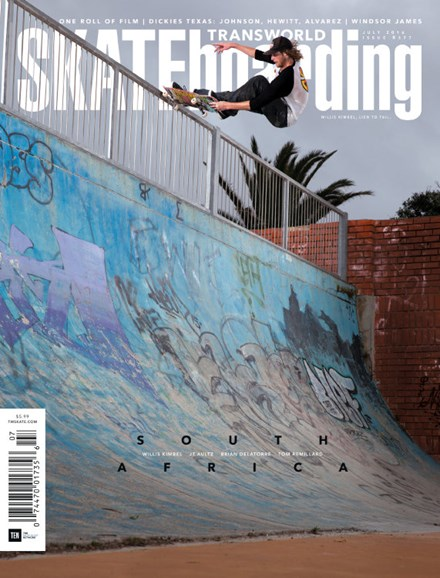 Transworld SKATEboarding Cover - 7/1/2016