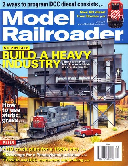 Model Railroader Cover - 7/1/2016