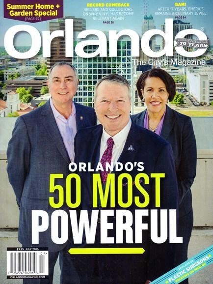 Orlando Magazine Cover - 7/1/2016