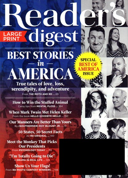 Reader's Digest - Large Print Edition Cover - 7/1/2016