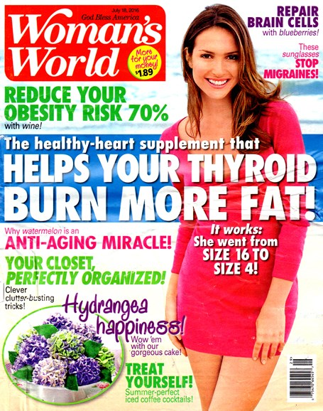 Woman's World Cover - 7/18/2016