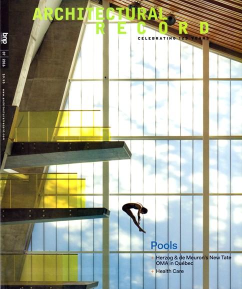Architectural Record Cover - 7/1/2016