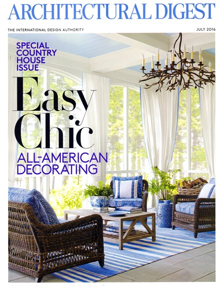 Architectural Digest Cover - 7/1/2016