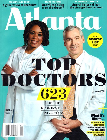 Atlanta Magazine Cover - 7/1/2016