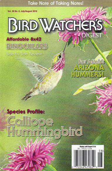 Bird Watcher's Digest Cover - 7/1/2016