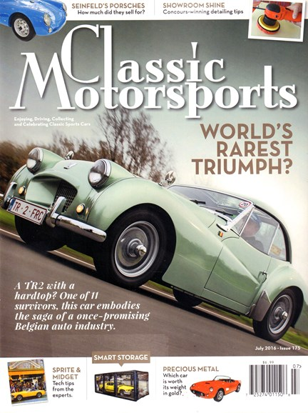 Classic Motorsports Cover - 7/1/2016