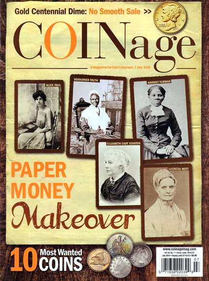 Coinage Cover - 7/1/2016