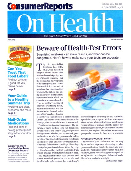 Consumer Reports On Health Cover - 7/1/2016