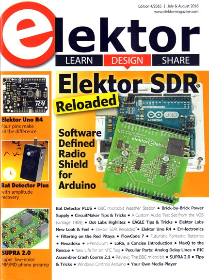 Elektor - North American Edition Cover - 7/1/2016