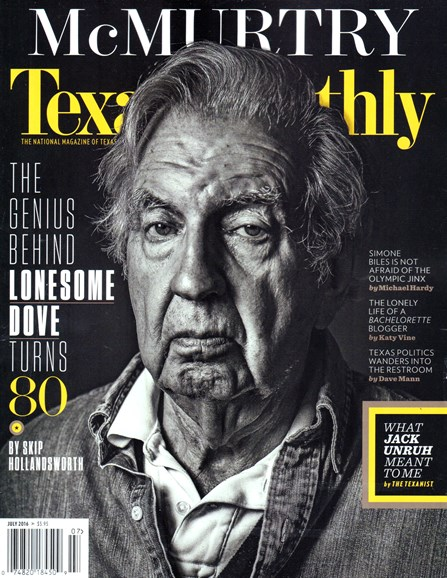 Texas Monthly Cover - 7/1/2016