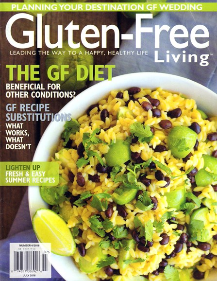 Gluten-Free Living Cover - 7/1/2016
