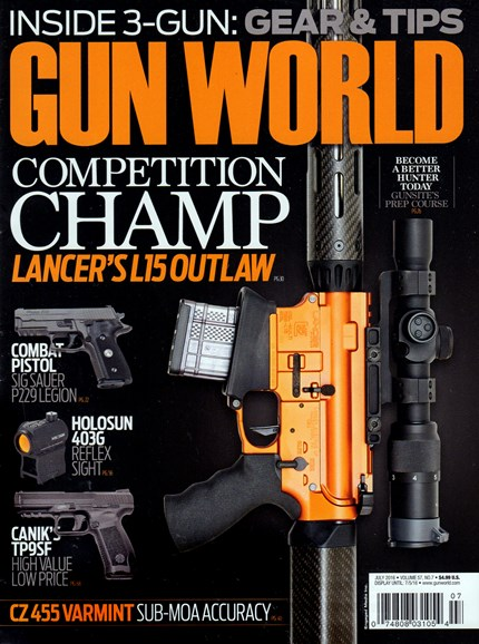 Gun World Cover - 7/1/2016