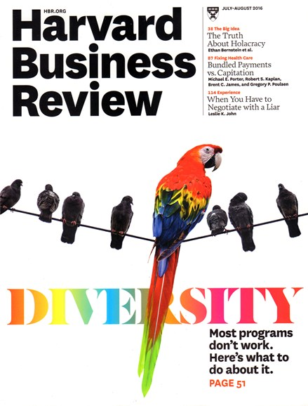 Harvard Business Review Cover - 7/1/2016