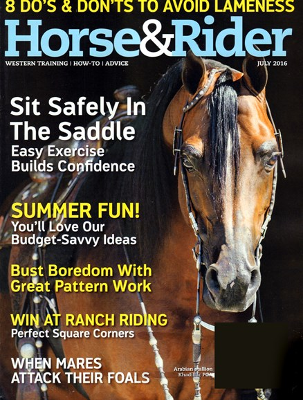 Horse & Rider Cover - 7/1/2016