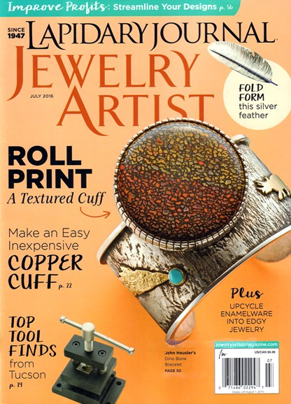 Lapidary Journal Jewelry Artist Cover - 7/1/2016